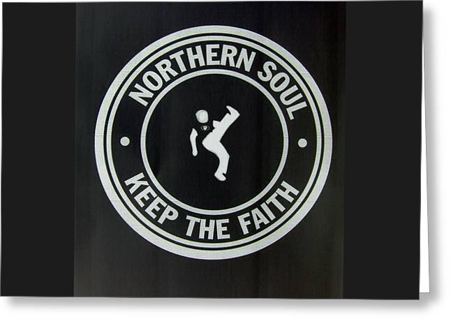 Northern Soul Dancer Inverted Greeting Card