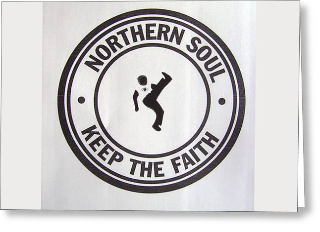 Northern Soul Dancer Greeting Card