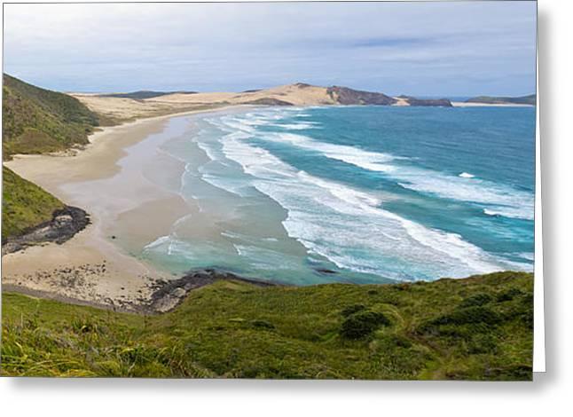 Northland Sand Beach Near Cape Reinga New Zealand Greeting Card by Stephan Pietzko