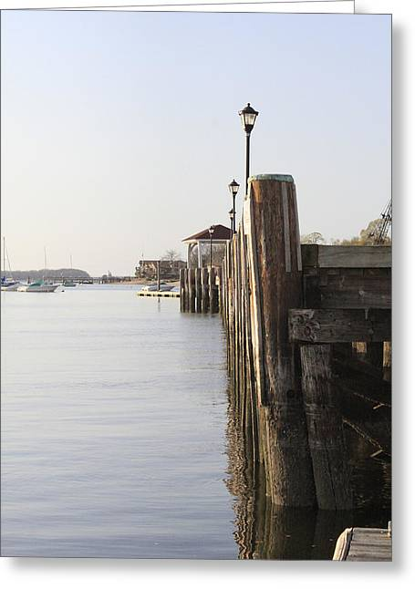 Northport Dock A Different Perspective Greeting Card