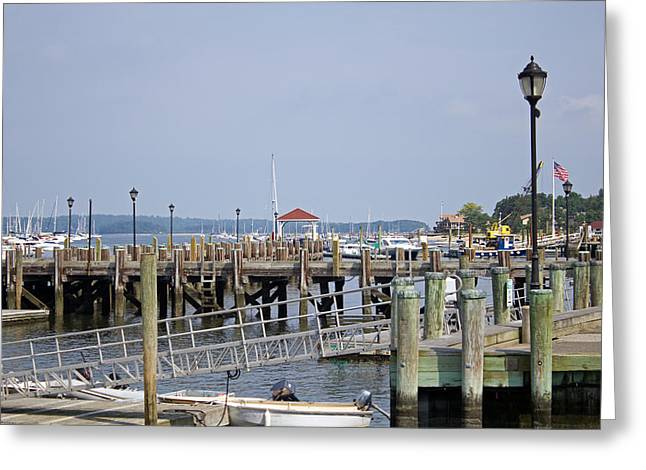 Northport Dock Long Island New York Greeting Card