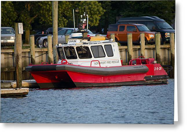 Northport Fire Boat Long Island New York Greeting Card
