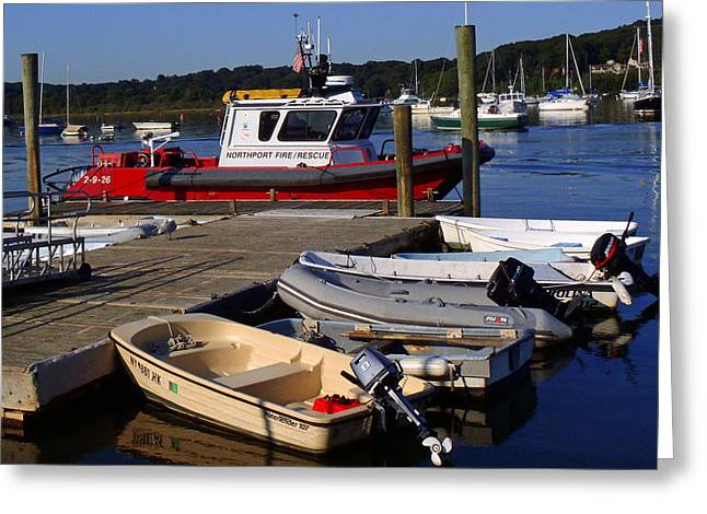 Northport Fire Boat Greeting Card