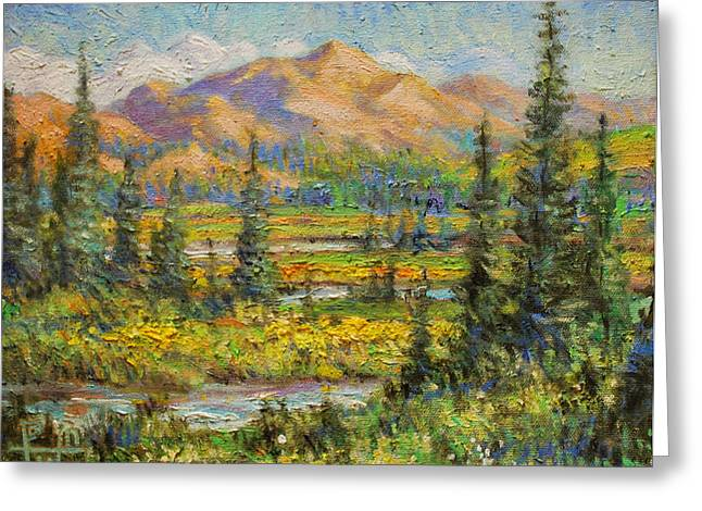 Northwest In The Rockies Greeting Card by Henry Potwin