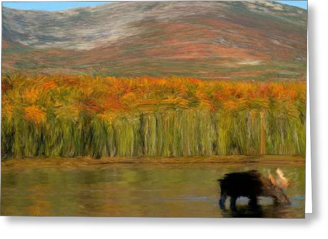 Greeting Card featuring the painting Northwest Moose by Bruce Nutting