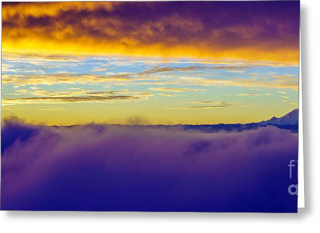 Northwest Sunrise Cloudscape Greeting Card by Mike Reid