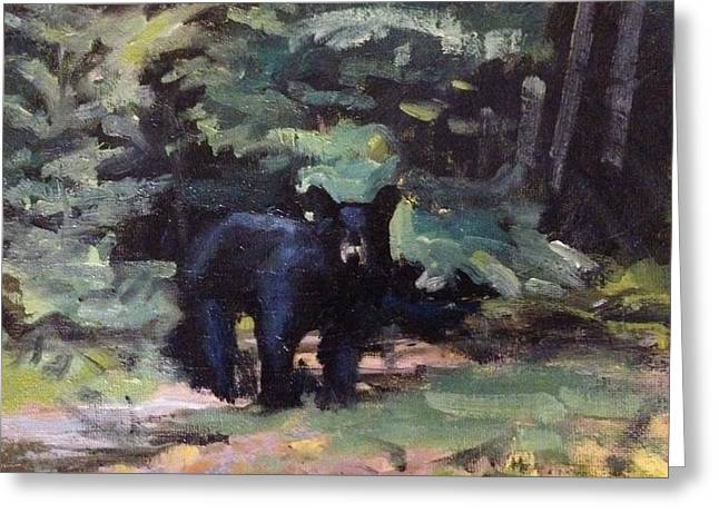 Northwoods Visitor Greeting Card by Spencer Meagher