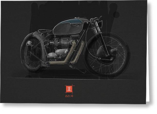Norton Bobber Greeting Card