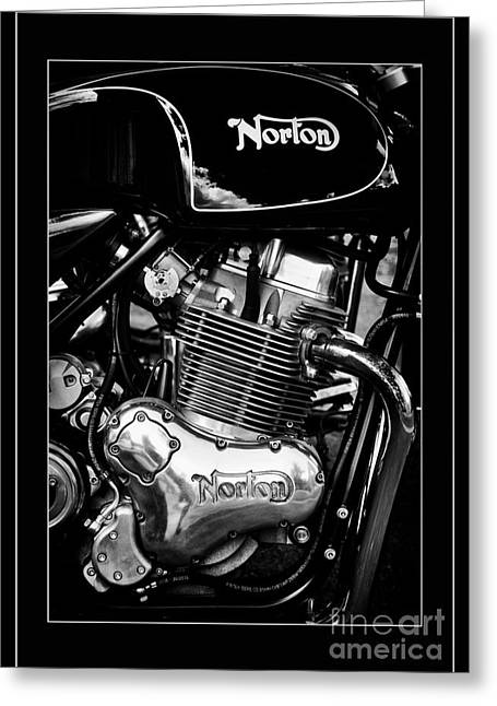 Norton Commando 961 Sport Monochrome Greeting Card by Tim Gainey