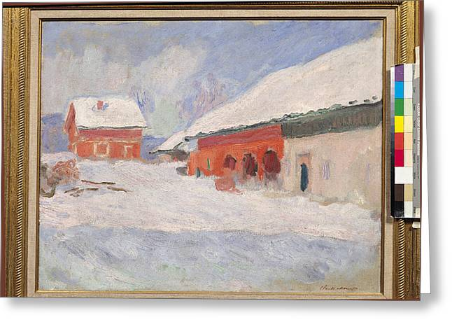 Norway, Red Houses At Bjornegaard, 1895 Oil On Canvas Greeting Card