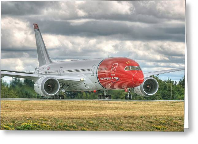 Norwegian 787 Greeting Card