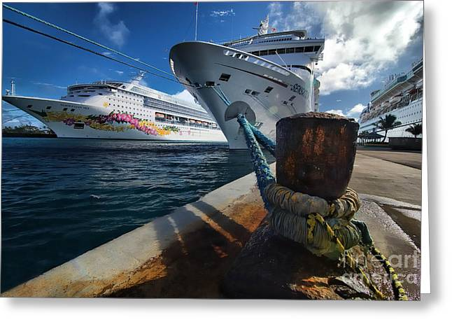 Norwegian Sky Carnival Sensation And Royal Caribbean Majesty Greeting Card