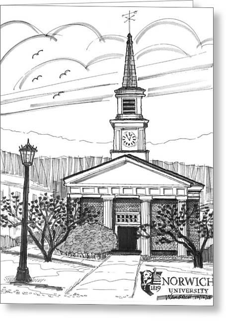Norwich University White Chapel Greeting Card