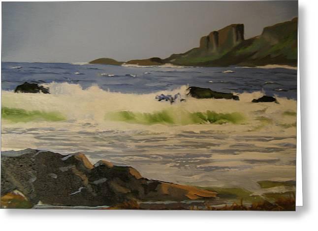 Norwick Beach Shetland Isles Greeting Card