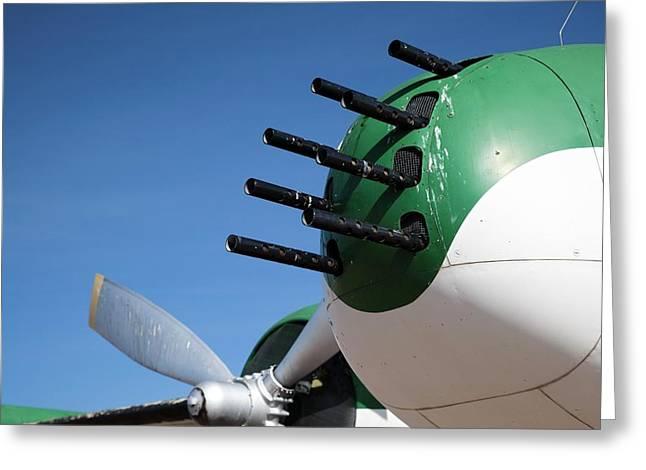 Nose-mounted Aeroplane Guns Greeting Card