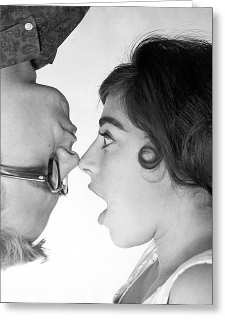 Nose To Nose Greeting Card