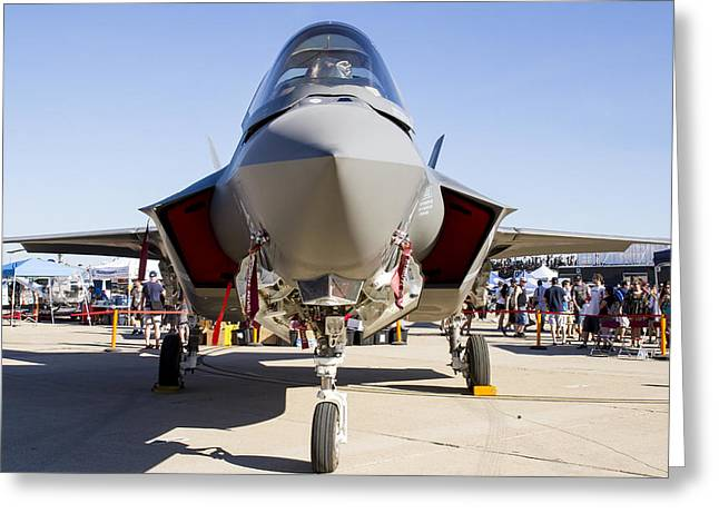 Nose To Nose With An F-35 Greeting Card