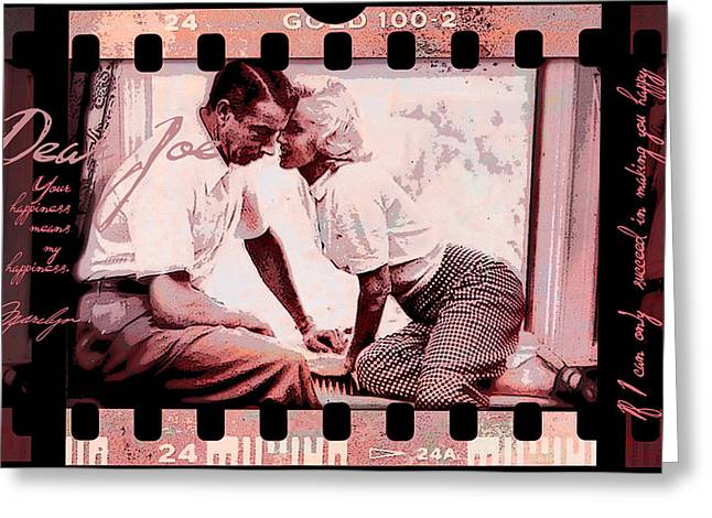 Nostalgia Joe Dimaggio And Marilyn Monroe Your Happiness Means My Happiness Greeting Card
