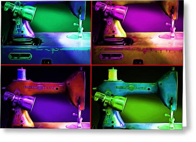 Nostalgic Vintage Sewing Machine 20150225p118 Four Square Greeting Card
