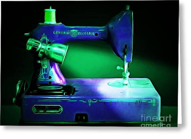 Nostalgic Vintage Sewing Machine 20150225p118 Greeting Card
