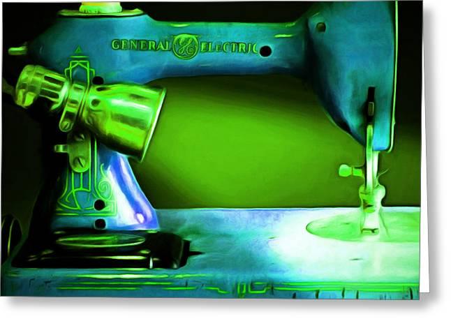 Nostalgic Vintage Sewing Machine 20150225p68 Square Greeting Card