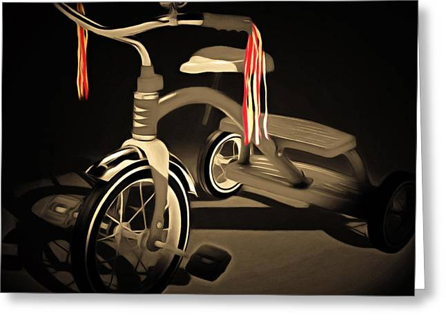 Nostalgic Vintage Tricycle 20150225 Square Sepia Greeting Card