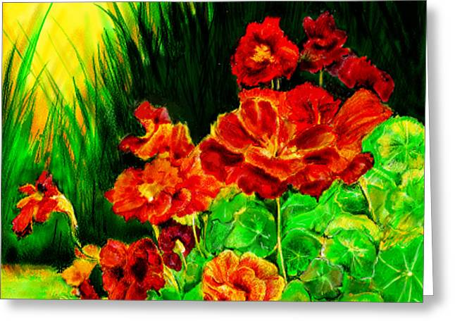 Nosturtiums Greeting Card