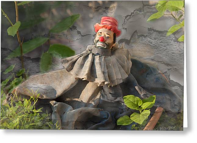 Greeting Card featuring the photograph Not A Happy Clown by Terri Harper