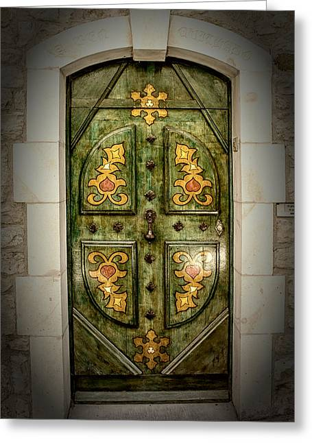 Not Just A Door Greeting Card by Catherine Arnas