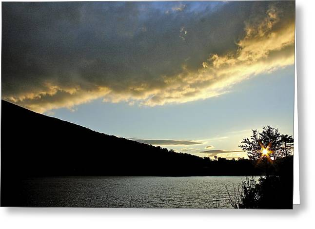 Notch Sunset Greeting Card by Jim Gillen