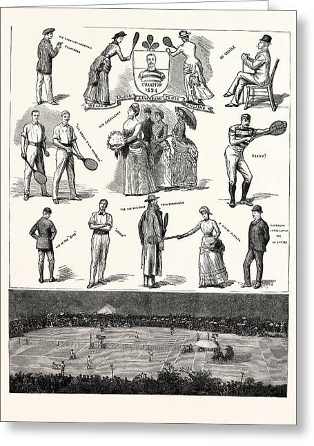 Notes At The Lawn-tennis Meeting For The Championship Greeting Card by Irish School