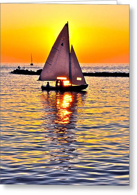 Nothin But A Good Time Greeting Card by Frozen in Time Fine Art Photography