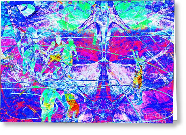 Nothing But Net The Free Throw 20150310inv Greeting Card by Wingsdomain Art and Photography