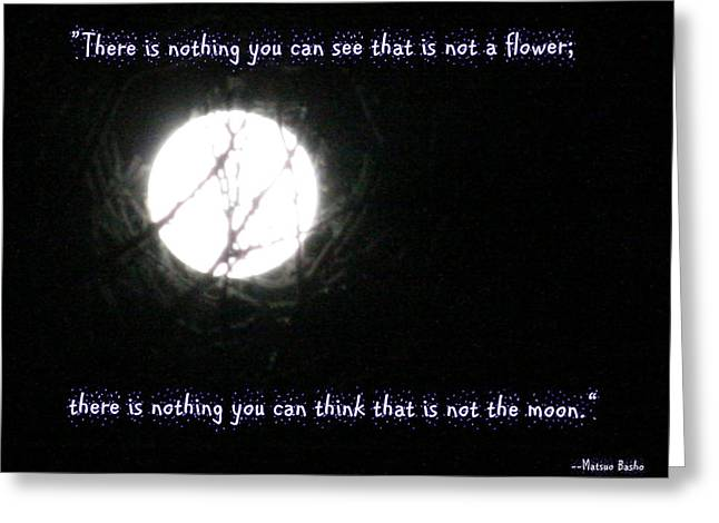 Nothing But The Moon Greeting Card