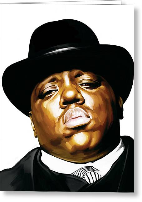 Notorious Big - Biggie Smalls Artwork 2 Greeting Card by Sheraz A