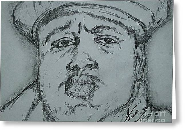 Notorious Big Art Greeting Card