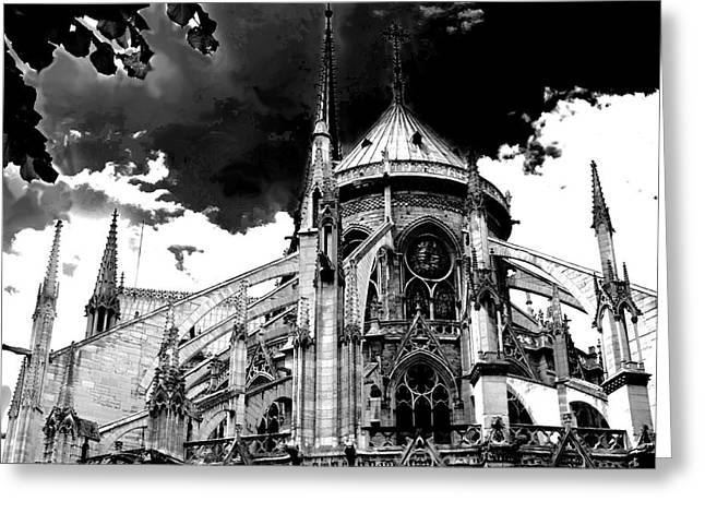 Notre Dam Revealed By Denise Dube Greeting Card