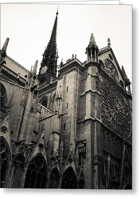 Notre Dame - For Eugene Atget Greeting Card