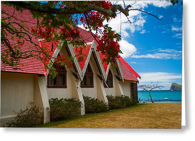 Notre Dame Auxiliatrice. Mauritius Greeting Card by Jenny Rainbow