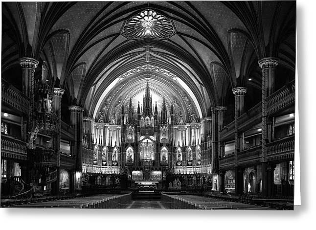 Notre-dame Basilica Of Montreal Greeting Card by C.s. Tjandra