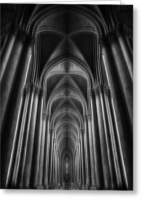 Notre-dame Catha?dral Greeting Card by Oussama Mazouz