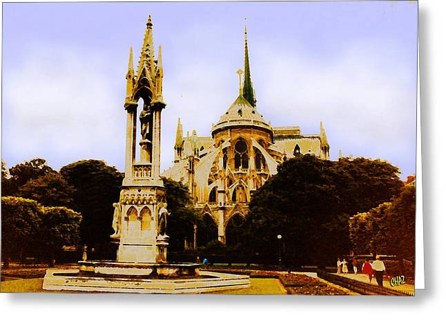 Notre Dame Cathedral Greeting Card