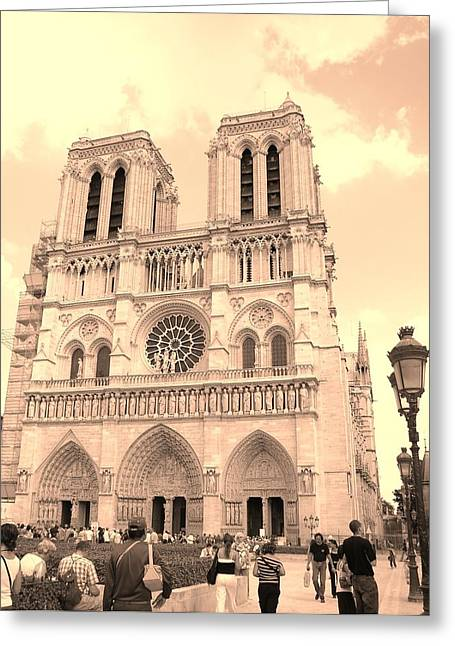 Greeting Card featuring the photograph Notre Dame Cathedral by Cleaster Cotton