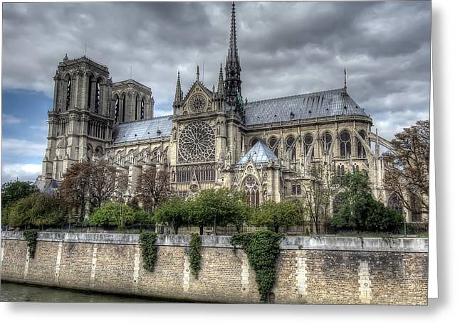 Notre Dame Cathedral Greeting Card by Ioan Panaite