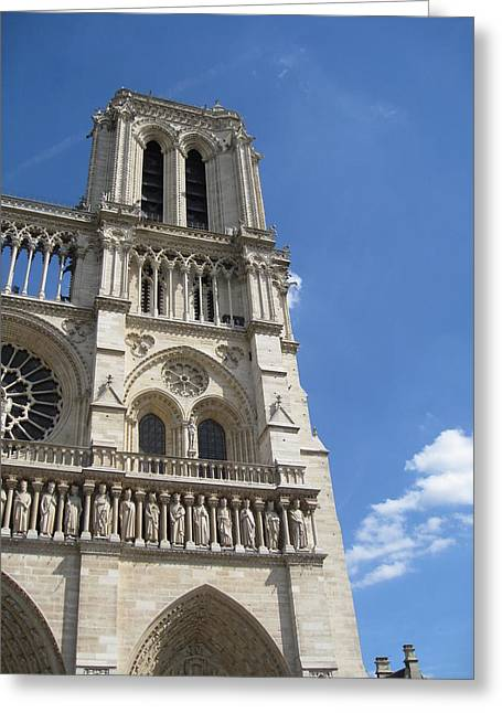 Notre Dame Cathedral Paris Tower Greeting Card by Stephanie Hunter