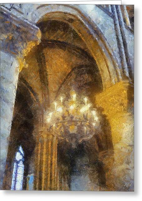 Notre-dame Chandelier Greeting Card by Rick Lloyd