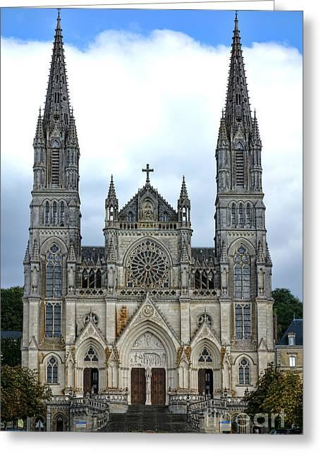 Notre Dame De Montligeon Basilica Greeting Card by Olivier Le Queinec