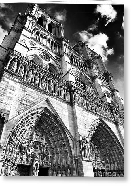 Notre Dame De Paris Greeting Card by John Rizzuto