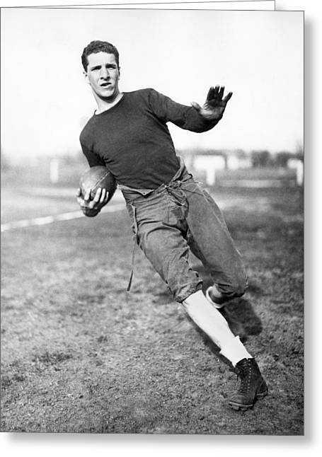 Notre Dame Football Player Greeting Card by Underwood Archives