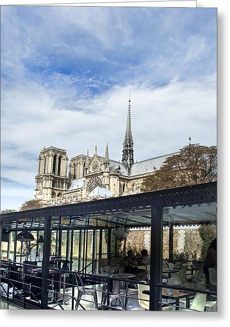 Notre Dame Greeting Card by Ivan Vukelic